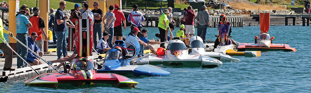 5-Liters Wait At The Dock During the Manson Hydrofest